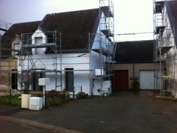 Réhabilitation thermique de 22 logements - pendant les travaux