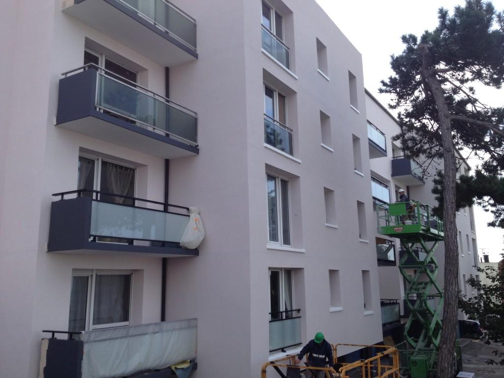 Réhabilitation thermique de 117 logements - pendant les travaux